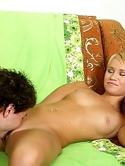 Hot Young Blonde Gets Her Mouth Full Of Cock