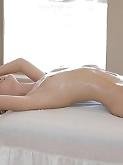 Blonde Cutie Chloe Brooke Gets A Naked Massage And Gives Her Mans Hard Cock A Long Licking And A Rau